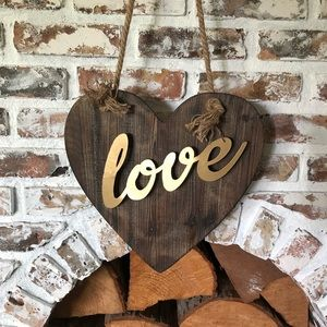 "Rustic wood ""love"" sign"